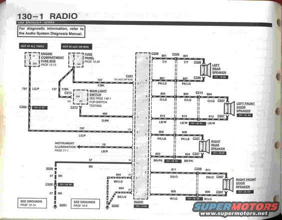 94 bronco evtm pg. 1301 94 bronco stereo wiring diagram ford bronco forum,1994 Ford Bronco Radio Wiring Diagram