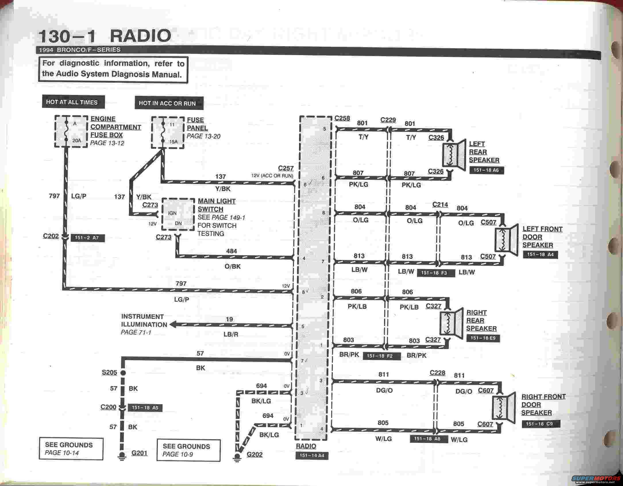 1993 radio wiring diagram ford bronco forum. Black Bedroom Furniture Sets. Home Design Ideas