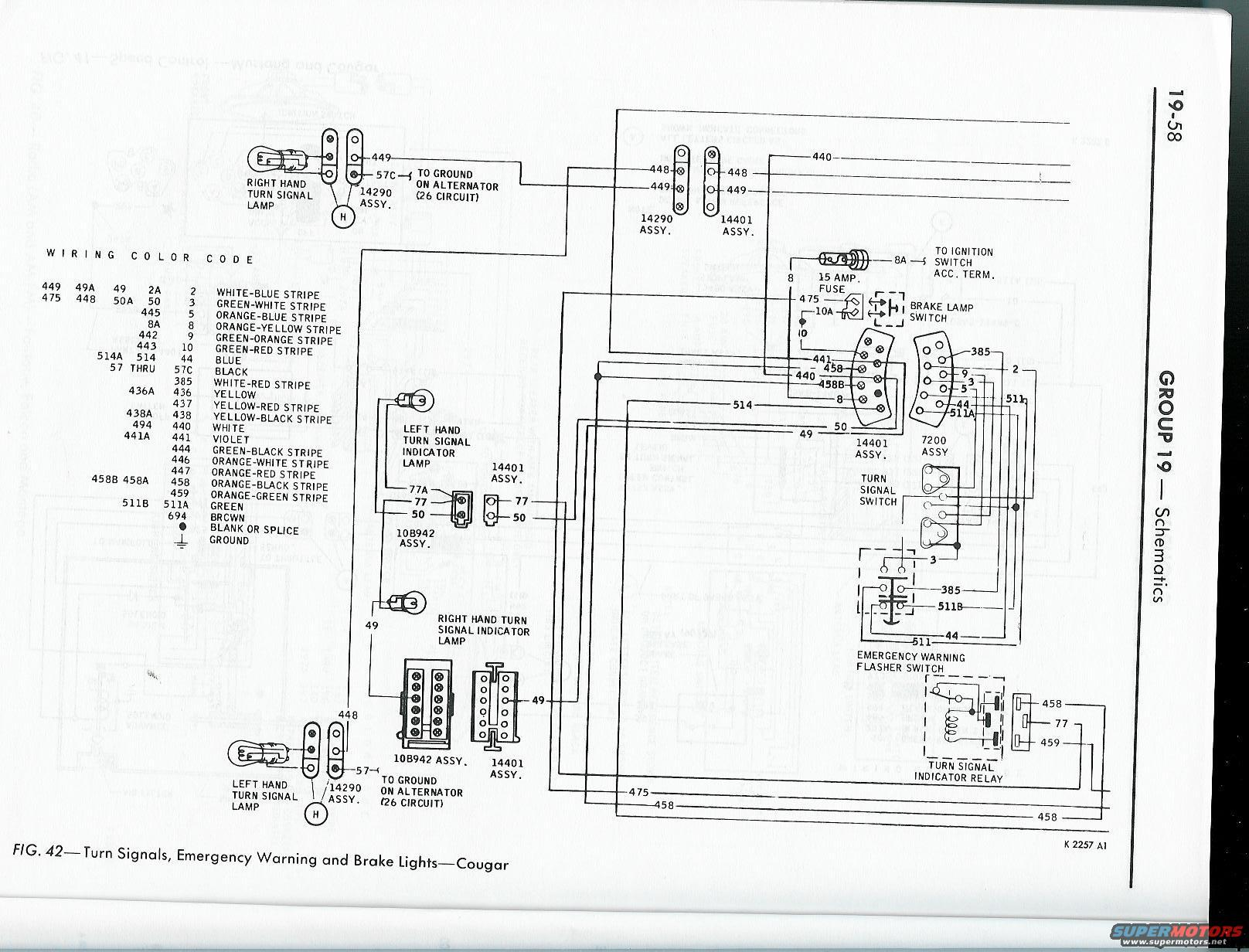 1965 mustang turn signal flasher wiring diagram  1965
