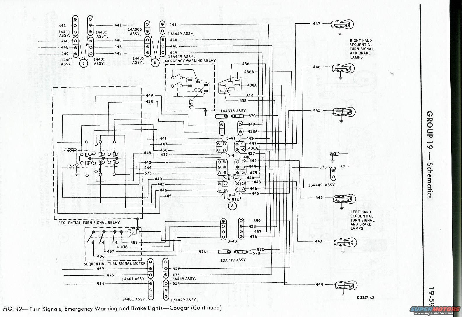 6820cougar20turn20signals202 wiring issues classic cougar community 1968 mustang turn signal wiring diagram at edmiracle.co