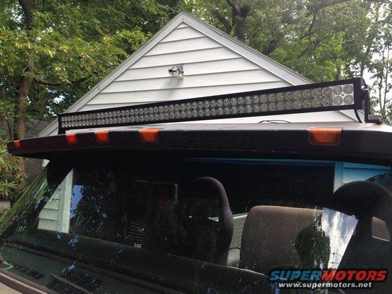 Led light bar mounting ford bronco forum headlights only then with lightbar mozeypictures Image collections