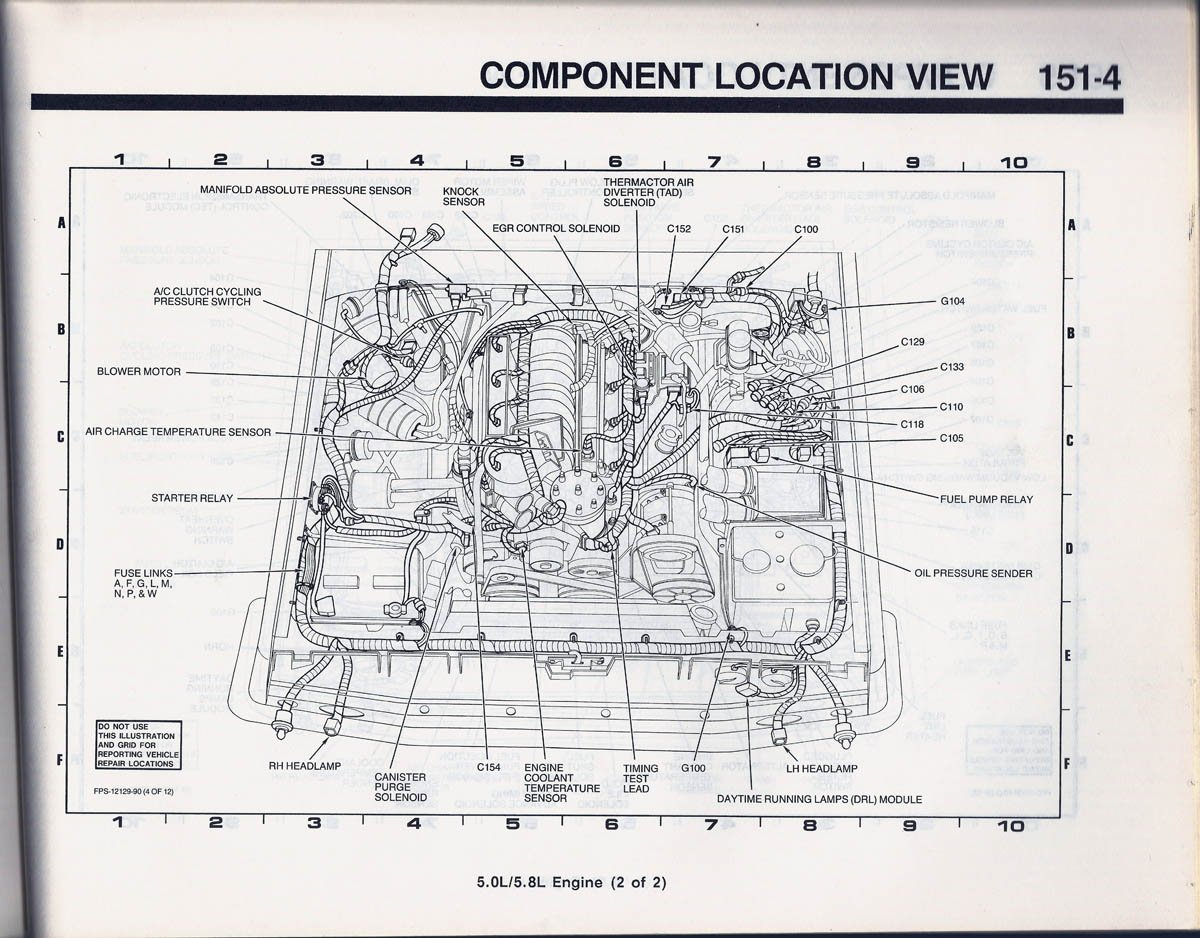 1990 bronco 1514a component location view 89 fusible link location? ford bronco forum  at fashall.co
