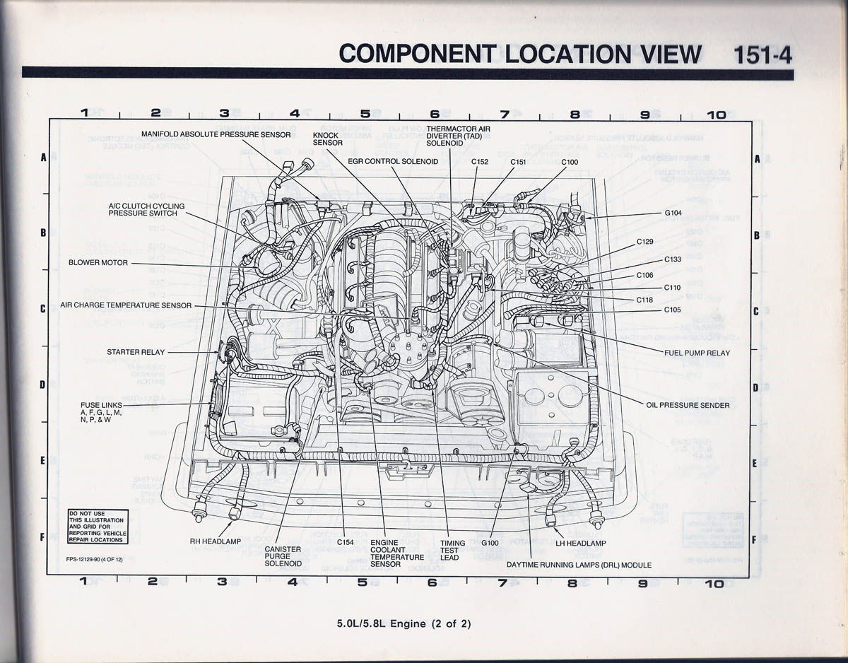 1990 bronco 1514a component location view 89 fusible link location? ford bronco forum 85 Ford Bronco Wiring Diagram at honlapkeszites.co