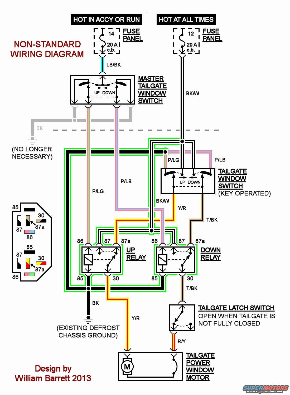 1991 Ford Bronco Rear Window Wiring Diagram 1972 Ignition Switch Tailgate Rewire Works 100x Better Page 2 Forum Rh Fullsizebronco Com 1993 Starter