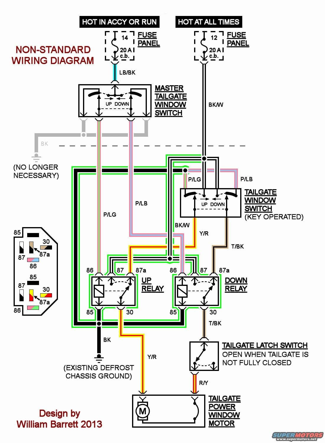 1991 Ford Bronco Rear Window Wiring Diagram For 1988 Tailgate Rewire Works 100x Better Page 2 Forum Rh Fullsizebronco Com 1993 Starter