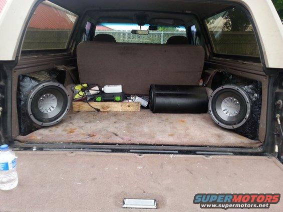 Subwoofer Install My Way Ford Bronco Forum