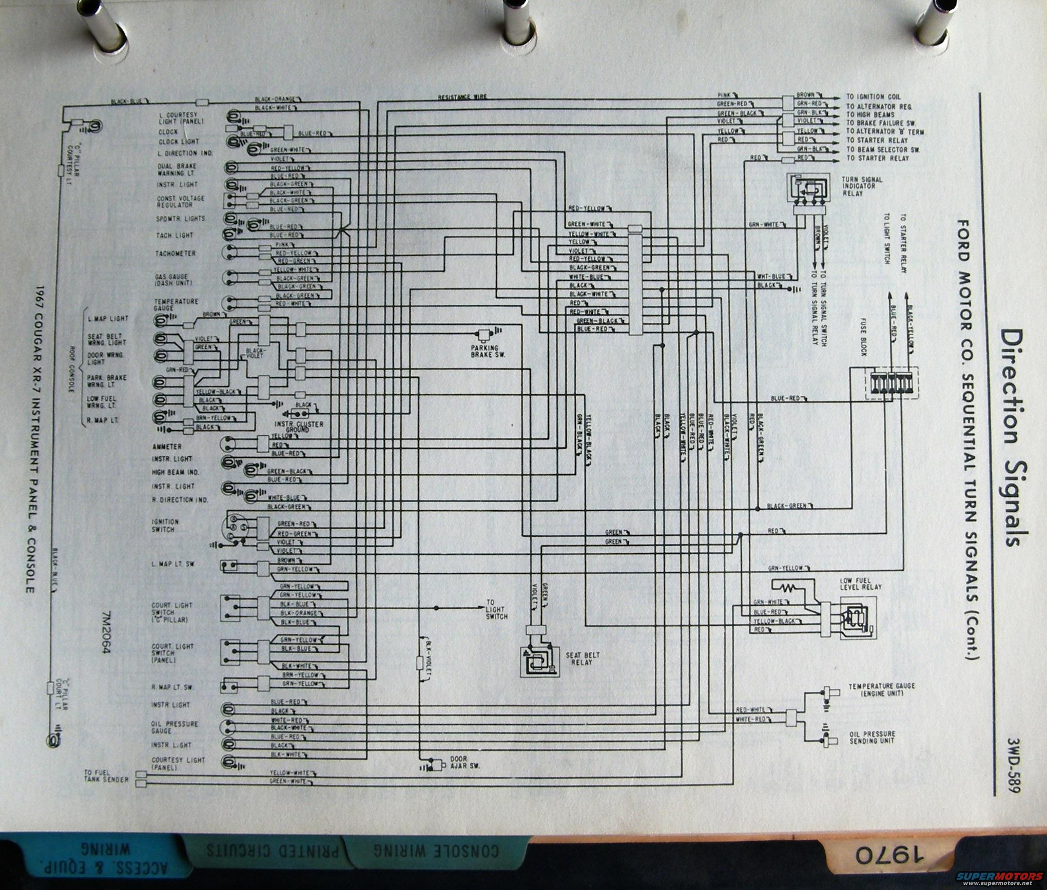 wiring diagram 1967 xr7 1968 cougar xr7 dash to headlights starter solenoid wire harness 2002 mercury cougar wiring diagram at bayanpartner.co