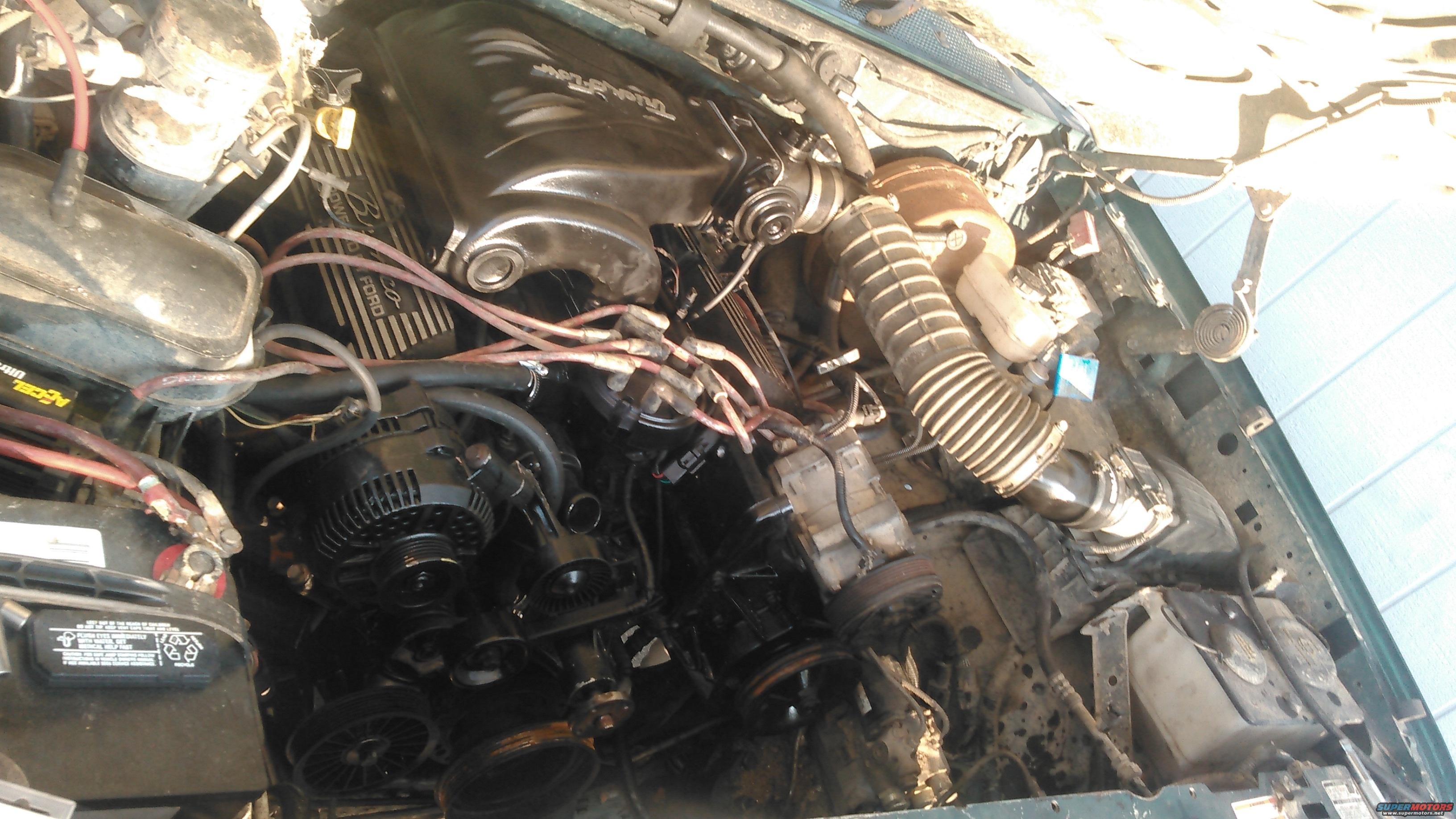 intake i cant really do a stock k n intake there super overpriced anwyays this is how i have it routed now except i do have the air ram connected