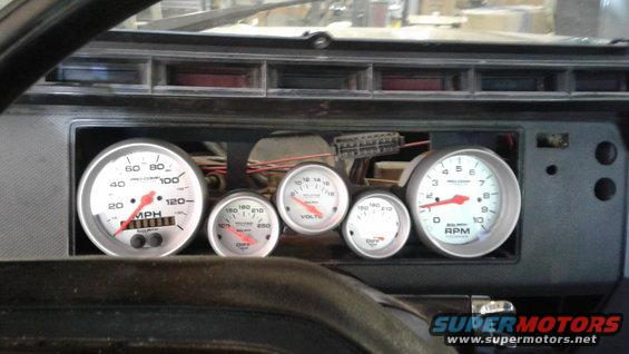 Auto Meter gauge install 1985 Bronco - Ford Bronco Forum