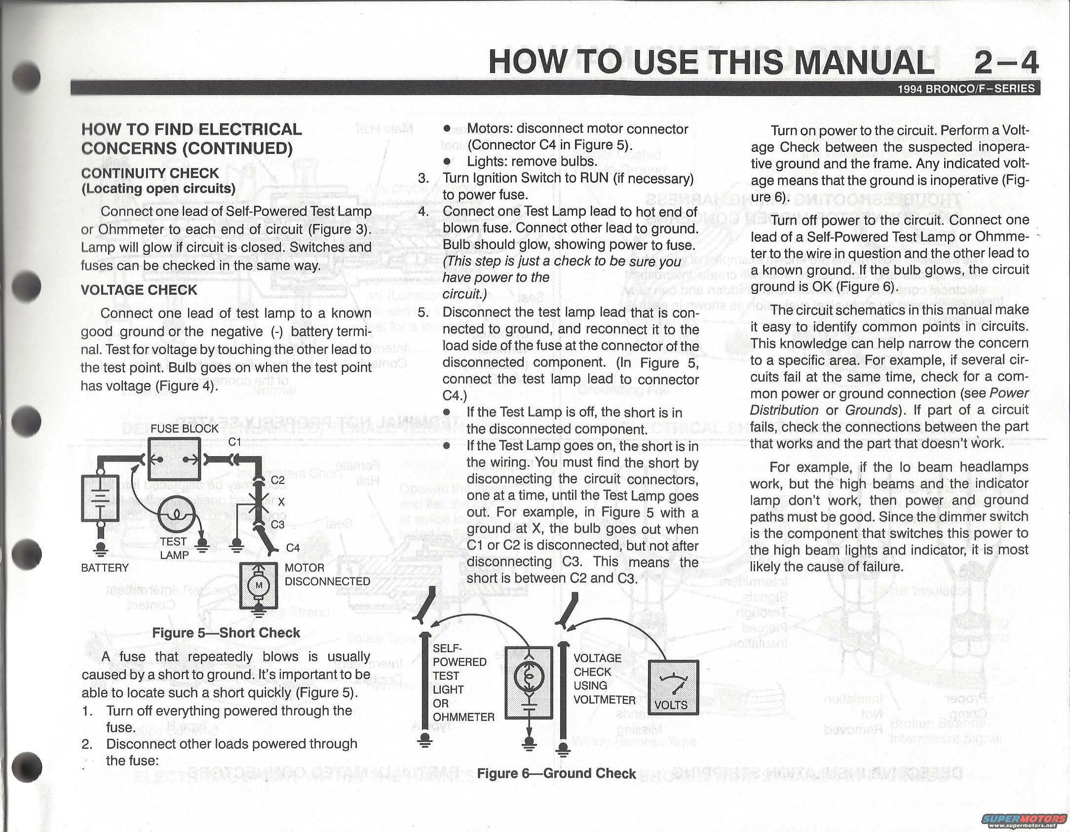 Look in the previous and next pages of the EVTM for more tips. 1996 Ford  Bronco ' ...