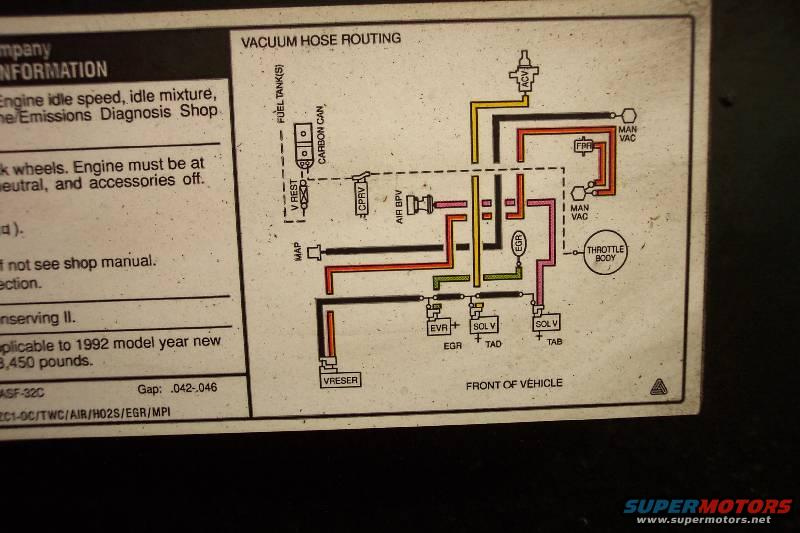 ford 5 8 timing cover diagram fuel injected 5.8 vacuum routing - ford truck club forum ford 5 8 engine vacuum diagram 1980
