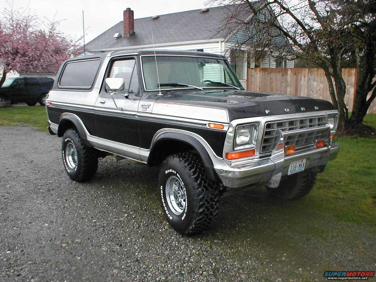 Truck Mud Tires >> 1979 Ford Bronco black/silver XLT R picture | SuperMotors.net