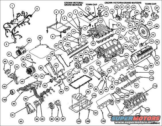 1994 ford crown victoria diagrams pictures videos and sounds rh supermotors net 2001 Ford 5.4 Engine Diagram Ford 4.6 V8 Engine Specs
