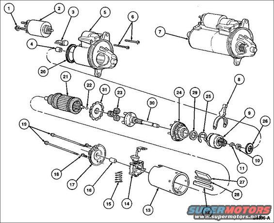starter exploded alt= 1994 ford crown victoria diagrams pictures, videos, and sounds 2002 ford focus starter diagram at webbmarketing.co