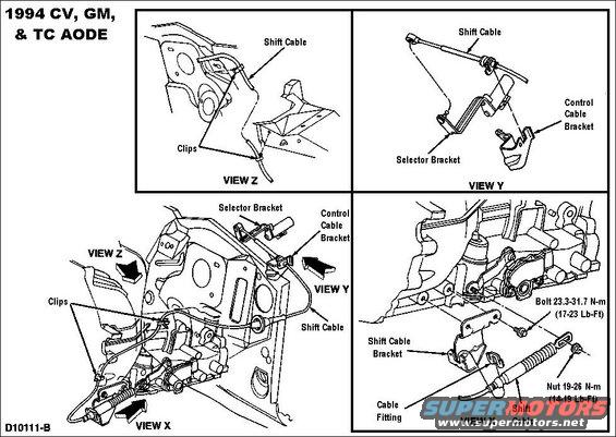 ford transmission linkage diagram