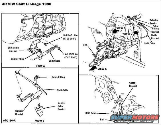 exploded view of 1999 ford crown victoria manual gearbox