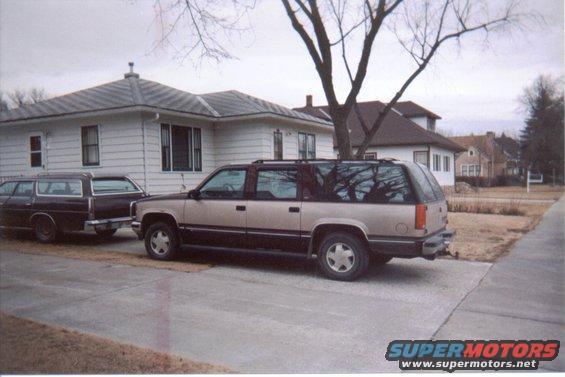 93-sub.jpg showing  the Sub... and the Wagon    Chevy and Ford living in Harmony in the same driveway.