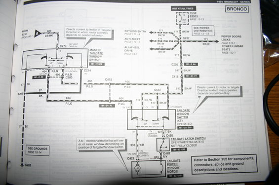 1994 ford bronco tailgate wiring diagram picture. Black Bedroom Furniture Sets. Home Design Ideas