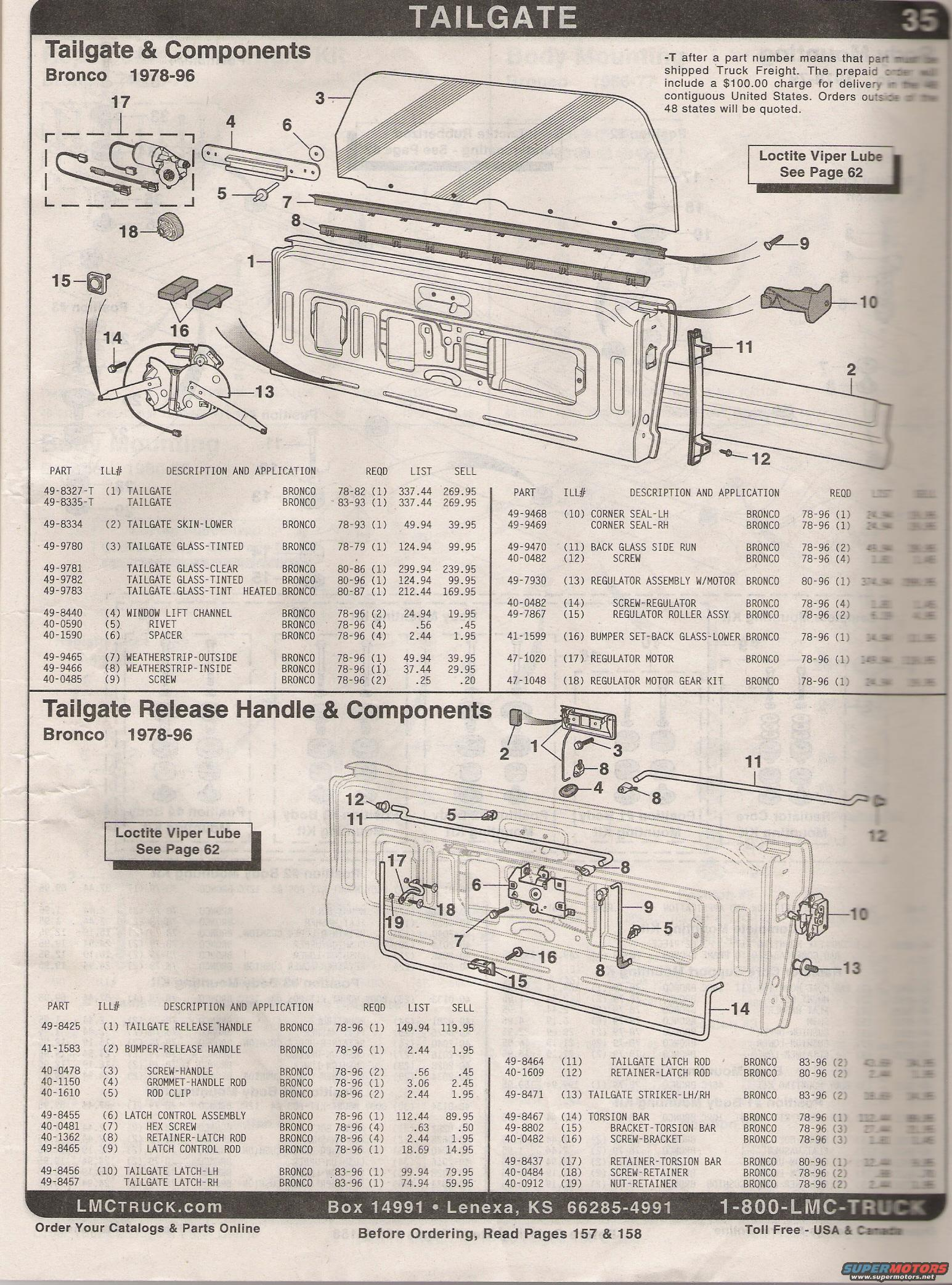 1979 Ford Bronco Tailgate Diagram House Wiring Symbols 1980 Part Numbers Lmc Picture Rh Supermotors Net 1978