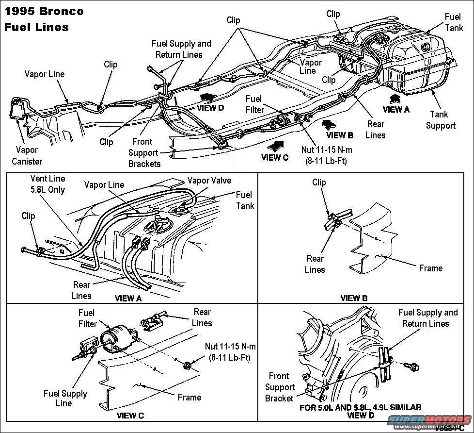 98 ford ranger fuel pump wiring diagram autos post 1997 Ford F-150 Fuel System Diagram fuel lines 95 bronco
