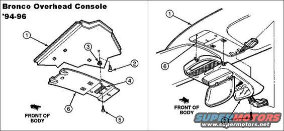1983 ford bronco overhead console  u0026 dual visors picture