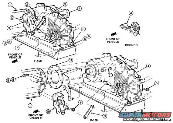 759979 Broke 4x4 Lever Pivot Mount on 97 ford f 150 4 2 engine diagram