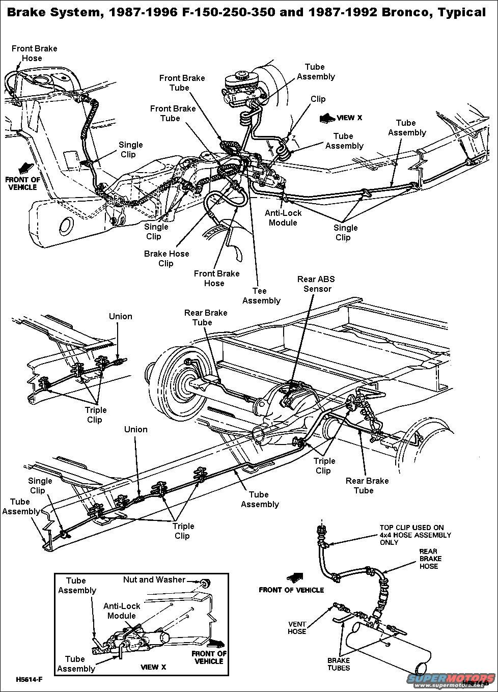 1999 Ford F150 Brake Lines Diagram