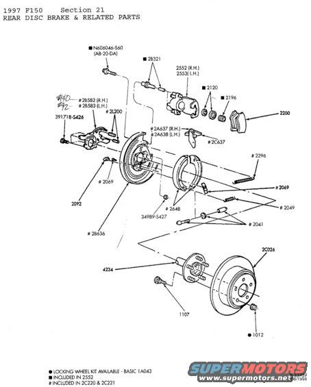 Rear Brake Parts Diagram : Rear rotor replacement f online forums
