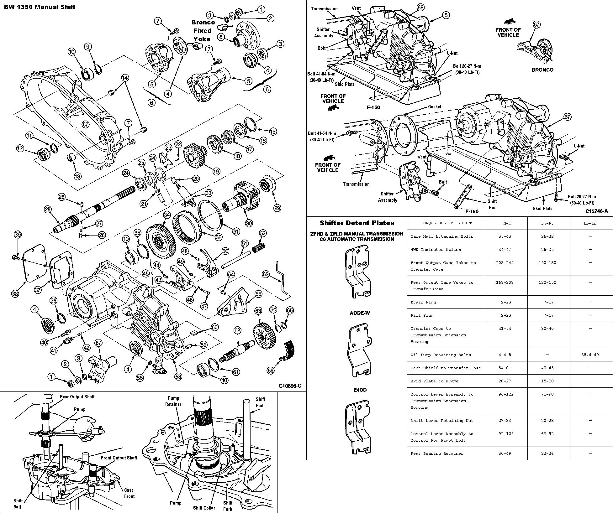 B W 1356 Manual Transfer Case Rebuild Page 6 Ford