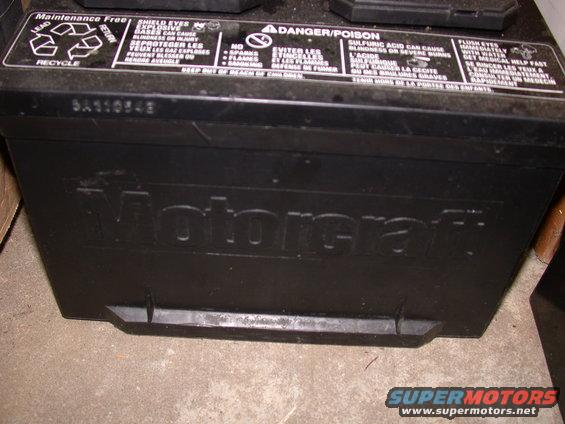 1995 Ford Mustang Cobra R Motorcraft Battery I D Pictures