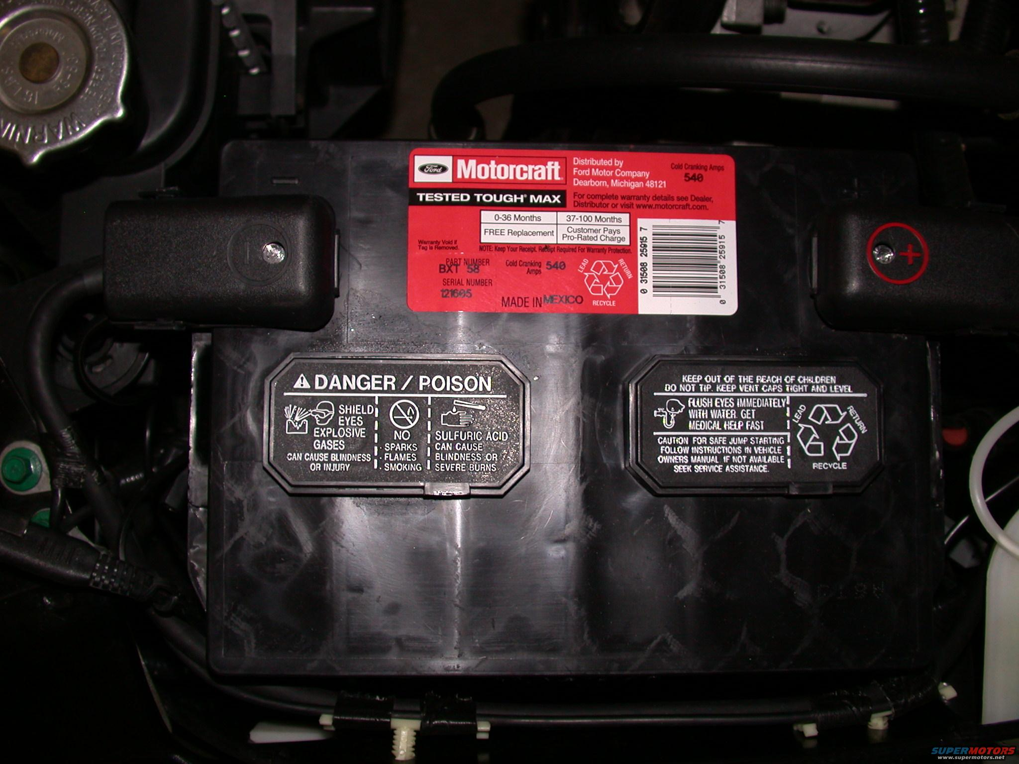 Period Specific Motorcraft Battery Decals