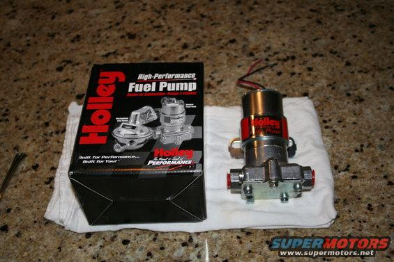 I need to pick the brains of those of you experienced with the holley electric fuel pumps. I think I know the answer, but need to know