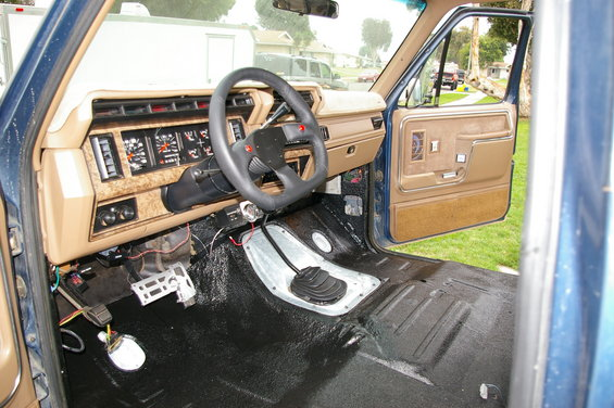 1986 Ford Bronco herculiner interior picture | SuperMotors.net