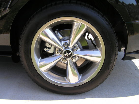 Late Model Mustang Wheel On 67 Galaxie Ford Muscle