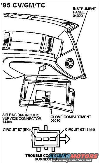airbag trouble code clear connector