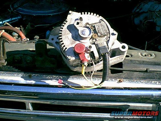 Installing HD alternator in 95 F350 460 Ford Truck