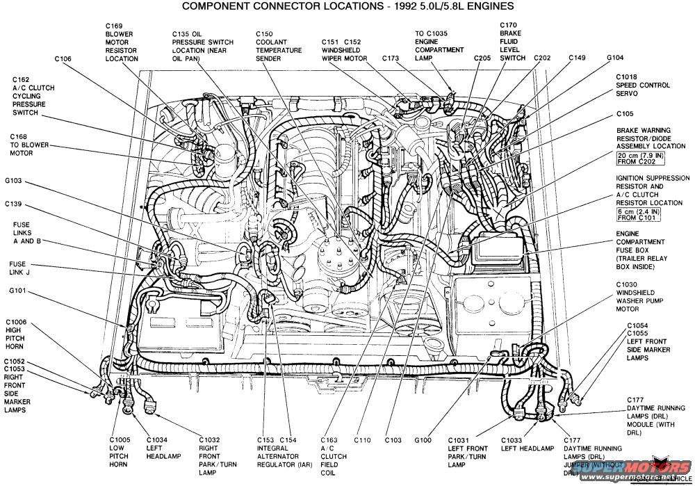 ford component connector locations 2 1992 5.0 cruise deactivation plug melted ford bronco forum OEM Engine Wire Harness at crackthecode.co