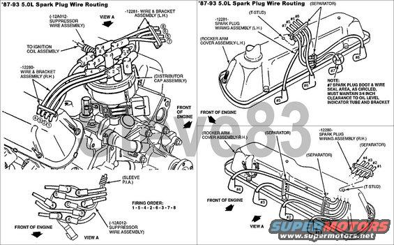 1988 f350 5 8l intake manifold wiring harness toyota 3 0 v6 engine intake manifold diagram ignition coil loose - ford bronco forum