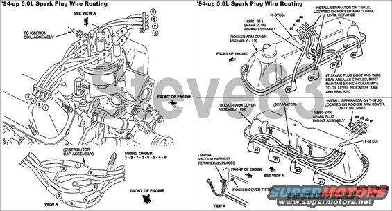 302 intermittent spark problem ford bronco forum spark plug wire routing for 94 up 5 0l all 5 8l