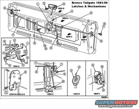 89 ford bronco rear wiring diagram  89  get free image