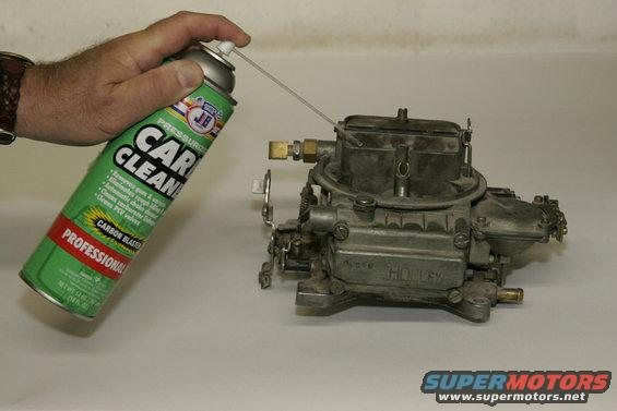 qft02.jpg Start with a good carb cleaner, such as Justice Brothers, to remove built up gunk and dirt.