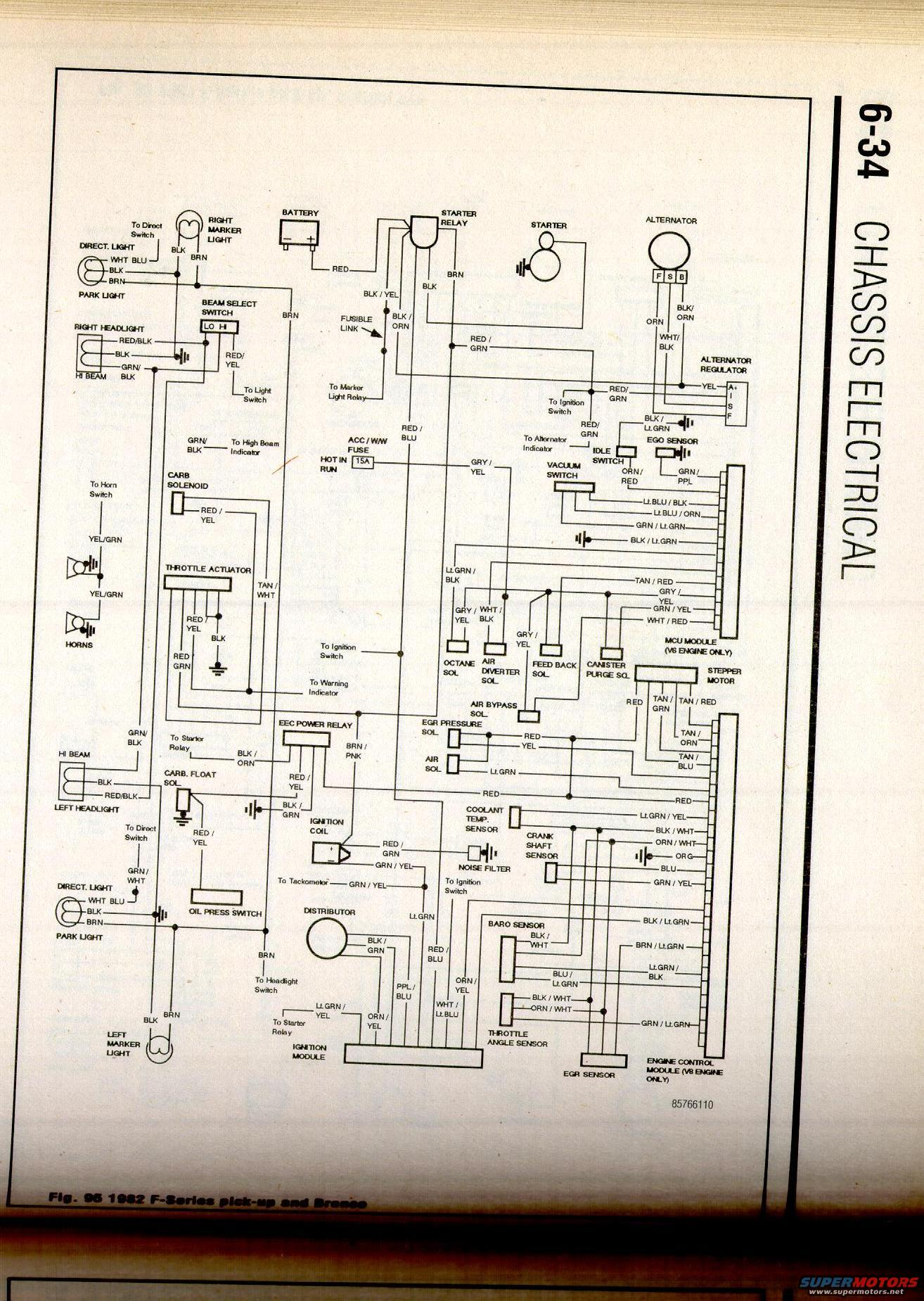 1982 Ford F150 Wiring Diagram Manual Of Ignition Bronco Misc Picture Supermotors Net Alternator