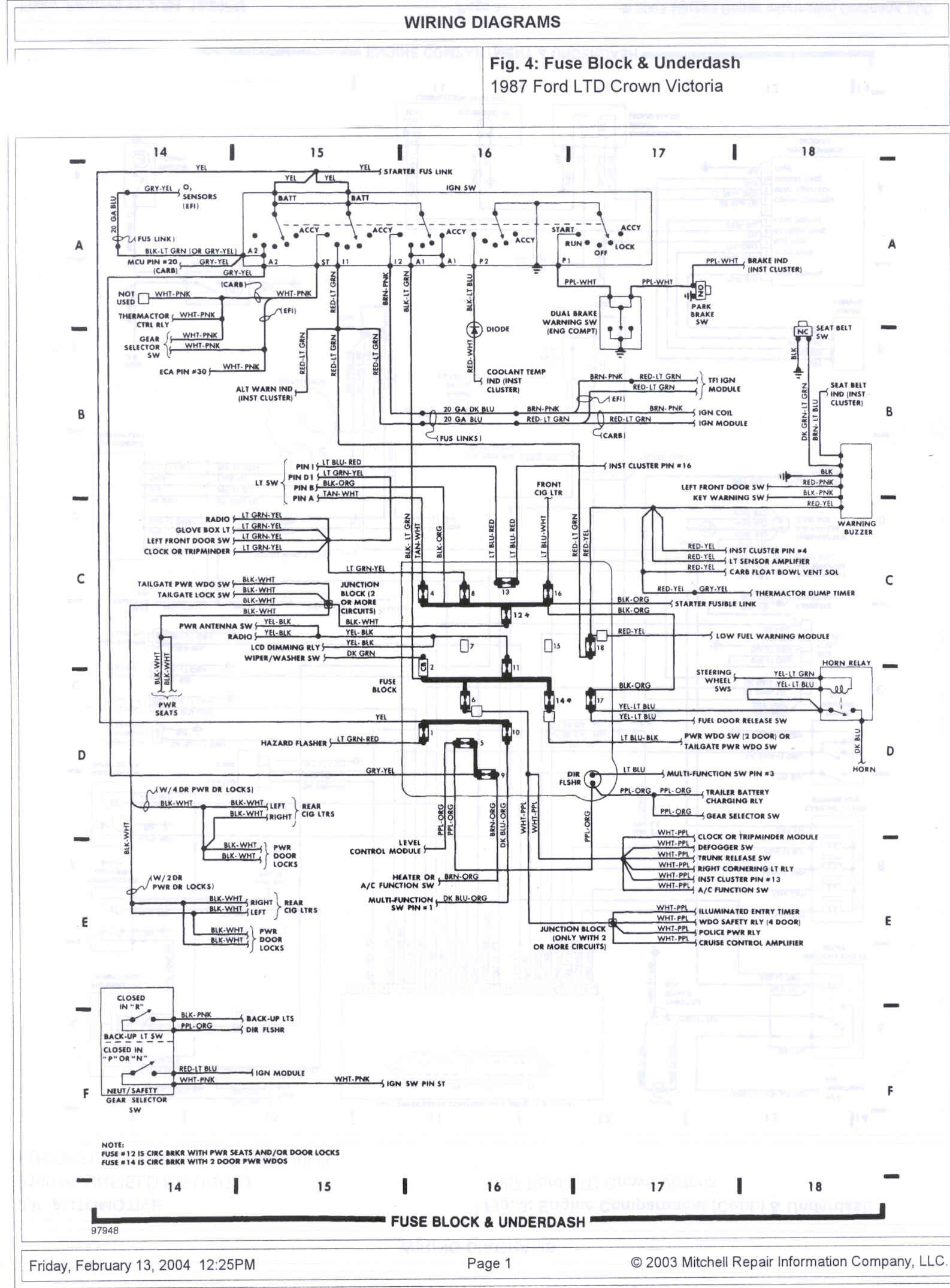 2010 crown vic fuse diagram 1985 ford crown victoria ltd wire diagrams picture ... #11
