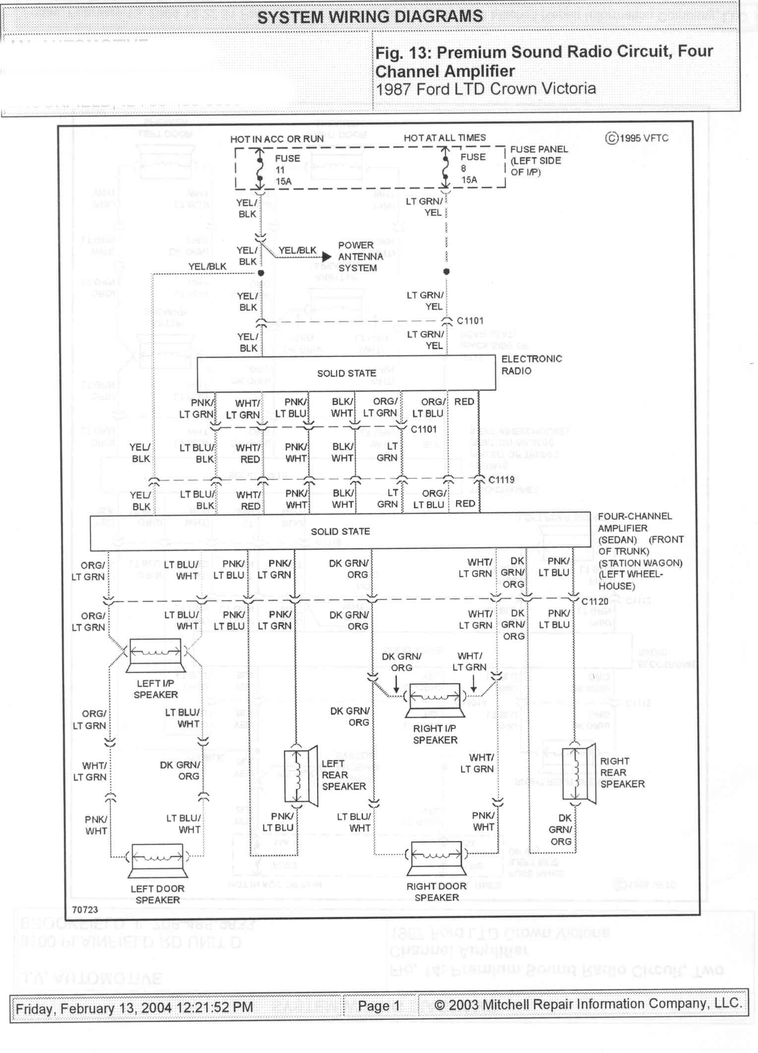 1985 ford radio wiring diagram 1985 ford econoline wiring diagram 1985 ford crown victoria ltd wire diagrams picture ...