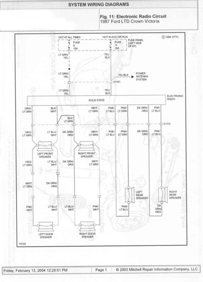 2004 ford crown victoria fuse box diagram 1985 ford crown victoria ltd wire diagrams picture ... 2004 ford crown victoria radio wiring diagram
