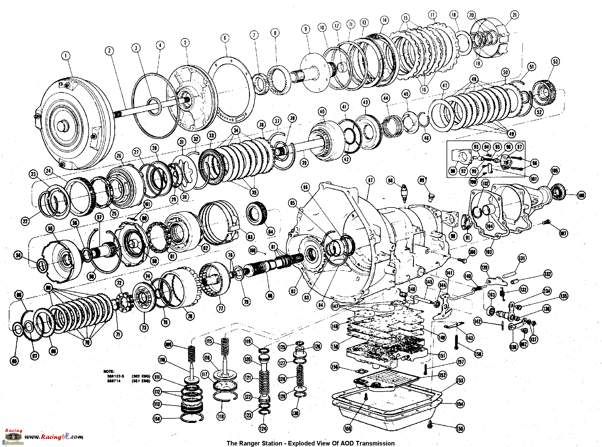 turbo 350 parts diagram