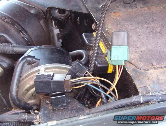 relays1.jpg This is a common problem in all pre-'92 EFI F-series & Broncos.  These Ford-style relays (BROWN socket = EEC power; GREEN socket = fuel pump)are notorious for causing intermittent failures in the EEC & fuel pumps.  Yesterday, this EEC PWR relay decided to lock on, killing the battery.  Today, its contacts are so bad that the truck won't run.  So it's about to be TRASH.  [url=https://www.supermotors.net/registry/media/1122758][img]https://www.supermotors.net/getfile/1122758/thumbnail/eec_pwr_relays.jpg[/img][/url]  See the NEXT caption.  The brown relay is resting on the vacuum cruise servo, and the yellow connector is for the EEC.  [url=http://www.supermotors.net/registry/media/173732][img]http://www.supermotors.net/getfile/173732/thumbnail/cruise-vacuum-92v8.jpg[/img][/url] . [url=http://www.supermotors.net/registry/media/491917_1][img]http://www.supermotors.net/getfile/491917/thumbnail/cruisetroubleshooting.jpg[/img][/url]  If the Fuel Pump relay comes on with the key and stays ON even when the engine isn't running, read [url=http://www.fordf150.net/forums/viewtopic.php?f=21&t=97221]this thread[/url].