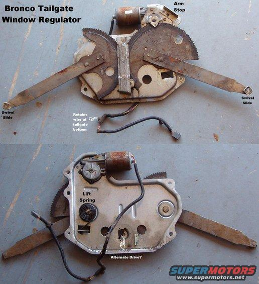 tgregulator alt= 1983 ford bronco tailgate tech pictures, videos, and sounds Bronco Rear Window Motor at sewacar.co