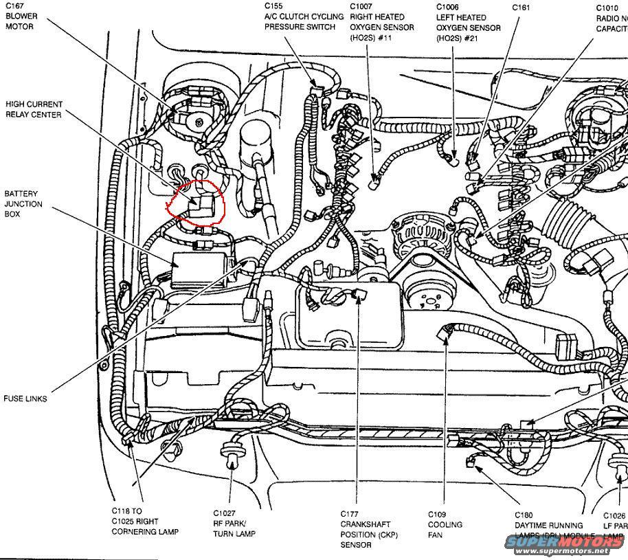 where is the starter relay 4 6l based powertrains crownvic net here is a wiring diagram from a 99 yours be similar