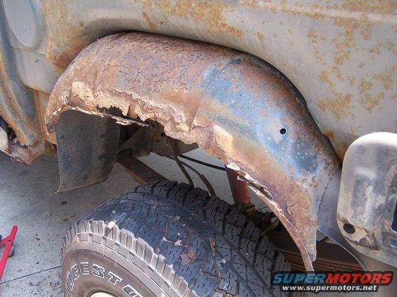 how to cut out rusted whell fenders for repair